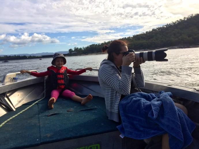 We put the official family photographer in the boat to capture all of the Grandad biscuting action!