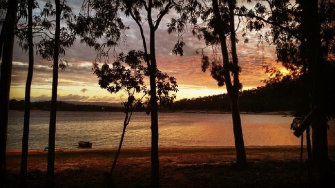 Beautiful sunset shot taken by my cousin Andrew at Camp Barrabadee, Lake Tinaroo