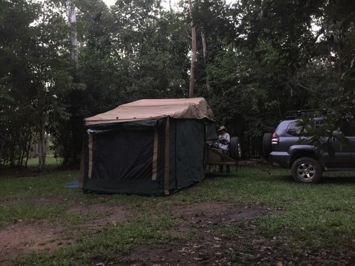 Our campsite - Abergowrie State Forest