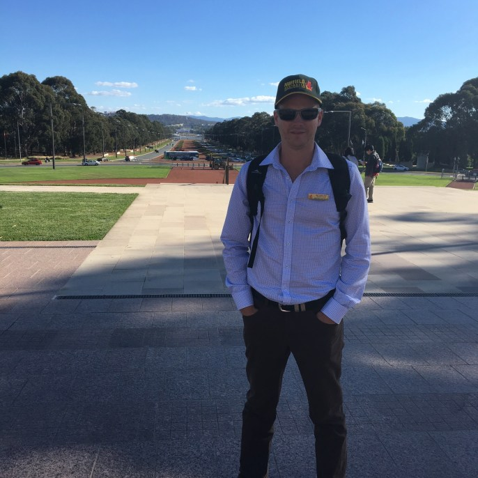 Matt had a few days 'induction' in Canberra before flying out to Brazil