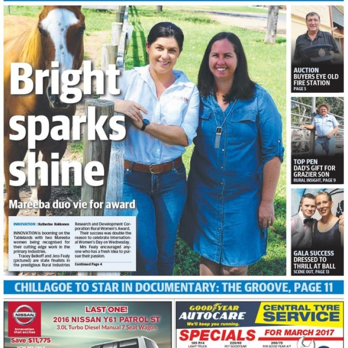 Not a great pic - but front page of the local Advertiser newspaper