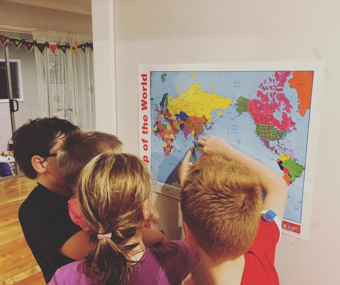 Tracking Dad on the world map