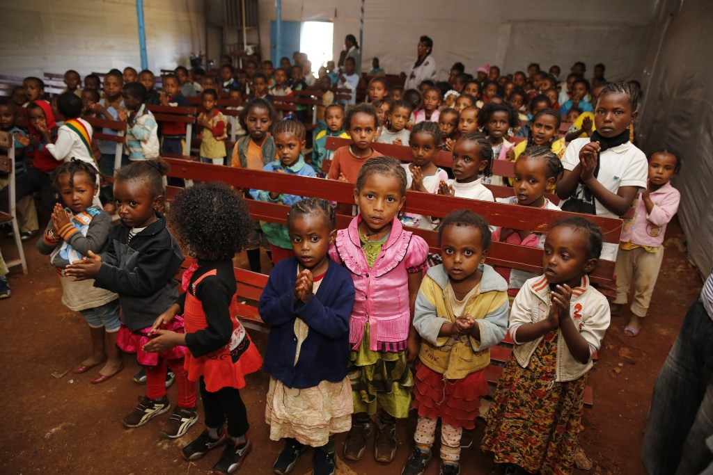 The children of our CarePoint site in Woliso, Ethiopia. We have 200 children who visit the site each day for food, shelter, clothing and emotional support. In 2014, we used social media to get our community to sponsor each of these kids until they are 18.