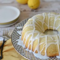 Gluten Free Lemon Bundt Cake with Lemon Icing