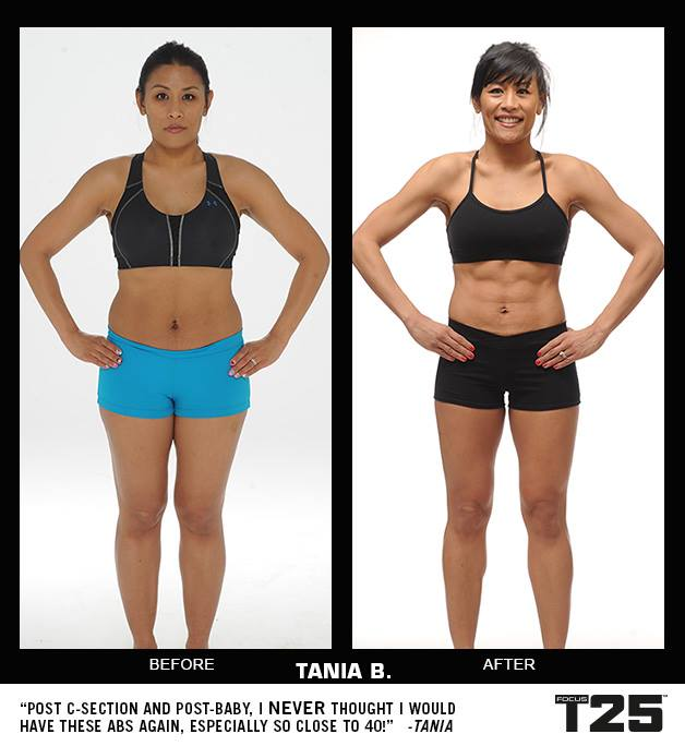 Focus T25 Before & After Results - FearlessLeeFit.com