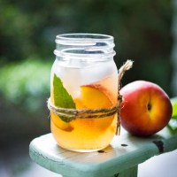 Peach and Elderflower Sangria