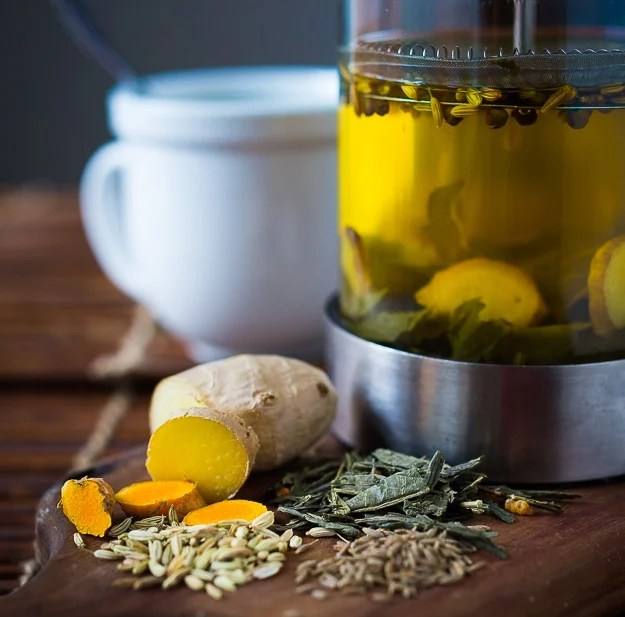 Ayurvedic Tea...a special blend of turmeric, ginger and whole spices...to help detox the body!