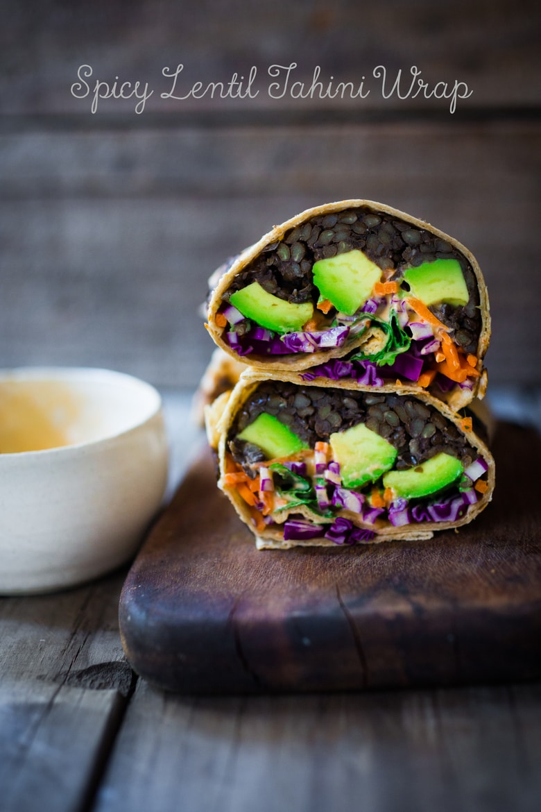 Spicy Lentil Tahini Wrap