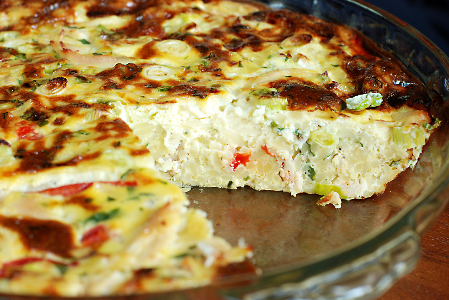 Chicken and Orzo Frittata