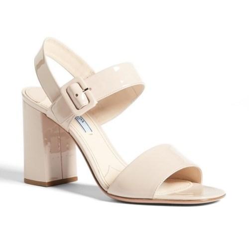 Prada block sandal