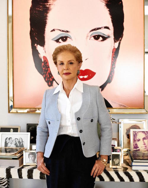 Carolina Herrera photographed in her office at her NYC headquarters on 10/30/2015 Published Credit: Peter Ash Lee for The Wall Street Journal