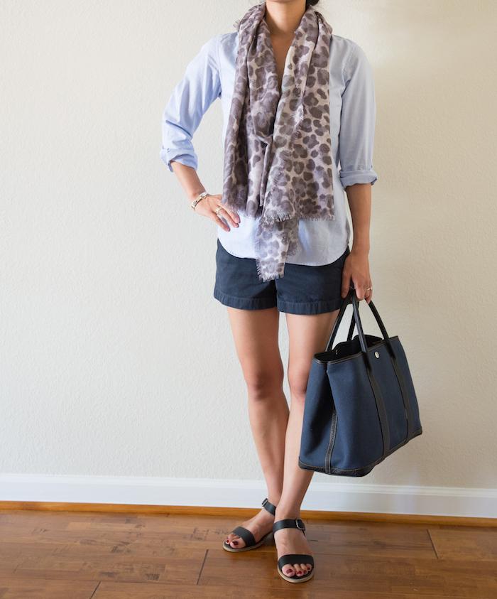 Wearing Casual Shorts Gray Sabi