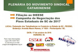 Plenária do Movimento Sindical Catarinense