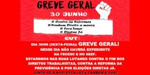 GREVE GERAL – 30 de junho – Nenhum Direito a Menos!