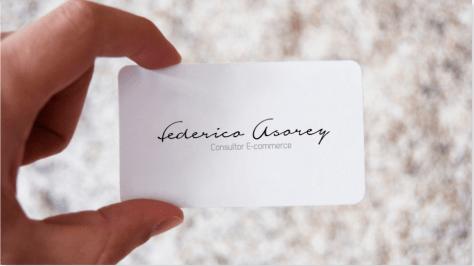 Tarjeta de visita de Federico Asorey Consultor Ecommerce