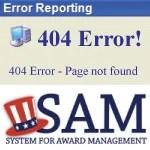 SAM.gov 404 Error