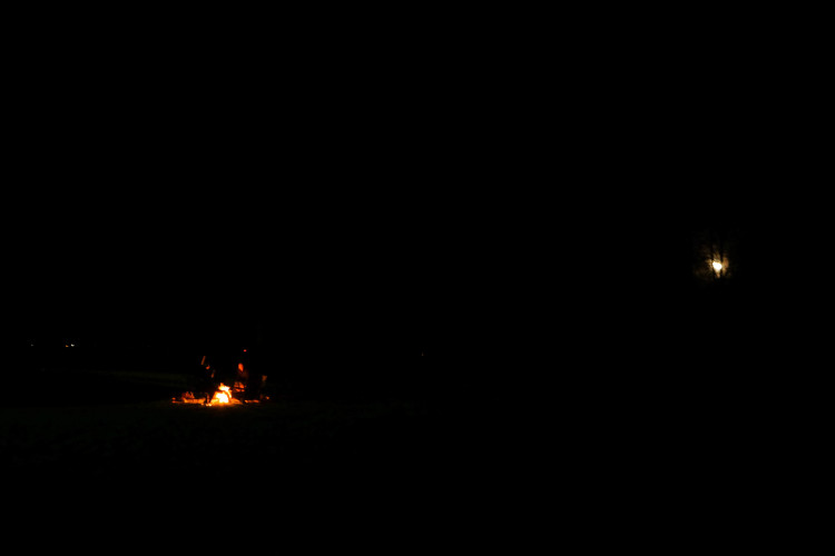 bonfire under full moon