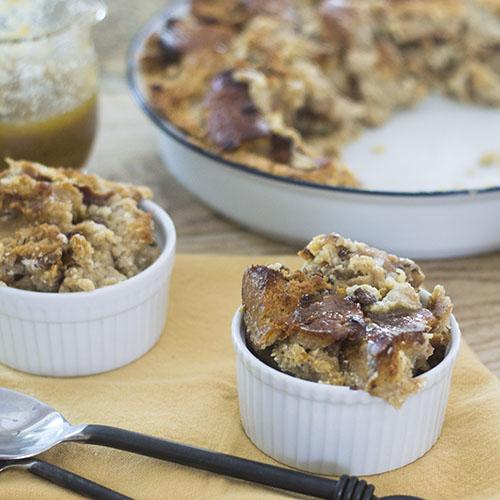 Cinnamon Raisin BAGEL Bread Pudding - Feed Your Soul Too
