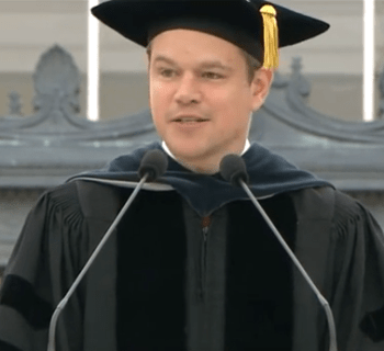 matt damon mit speech