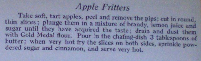 Apple Fritters from the Gold Medal Flour Cook Book
