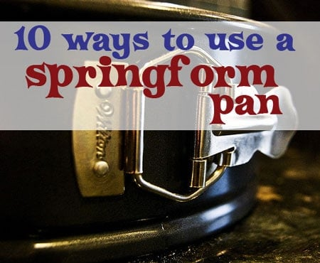 how to use a springform pan
