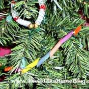 Making a Colored Pasta Garland with a Preschooler