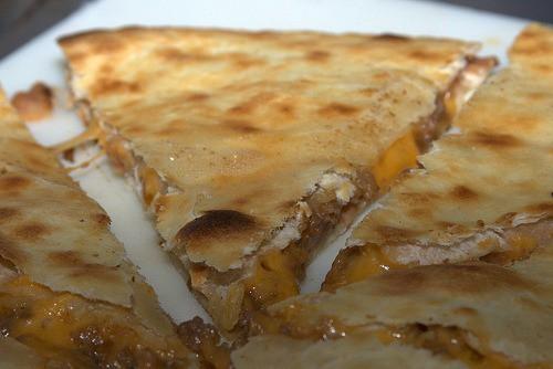 cheese onion quesadillas