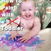 How to Paint with a Toddler (or, Allie's First Painting Experience)