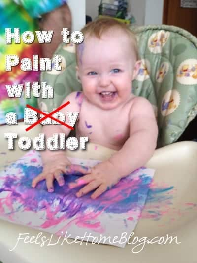 how to paint with a toddler