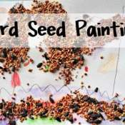Bird Seed Painting – Easy Crafts for Kids