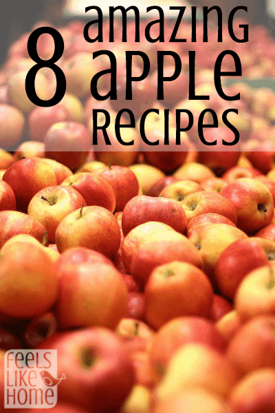 These apple recipes will leave you drooling. This is the perfect time of year - you're going to want to make a bunch!