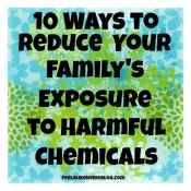 10 Ways to Reduce Your Family's Exposure to Harmful Chemicals