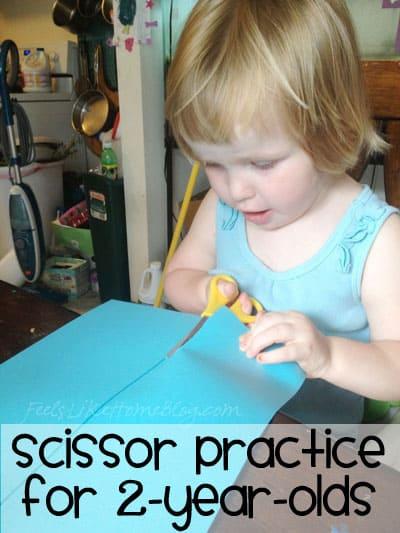 Scissor Practice for 2-year-olds