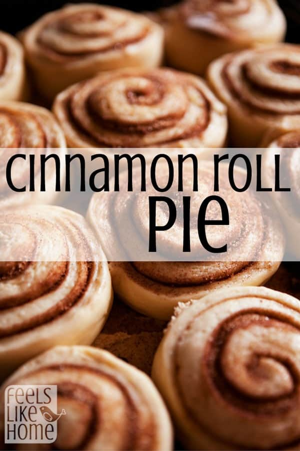 Everybody loves cinnamon rolls, but cinnamon roll PIE?!? Give me a big slice, please!
