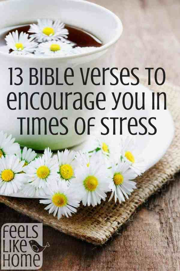 Everyone has stress. How do you deal with stress when it hits? You should start by praying these 13 Bible verses over your situation.