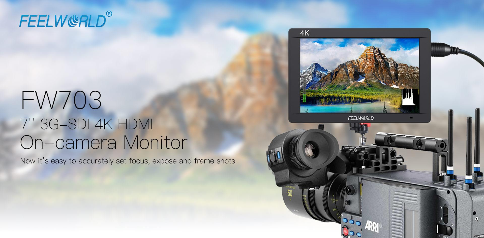 Monitor 4K HDMI IPS 7 inch 3G-SDI FW703 Feelworld