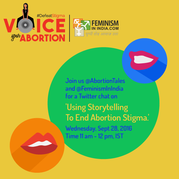 Tweet-chat On Ethical Abortion Storytelling 2016 #Sept28