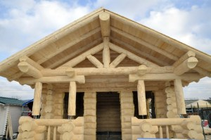 casa in tronchi di abete nordico coibentata