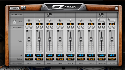 EZdrummer Mixer with Multi Output