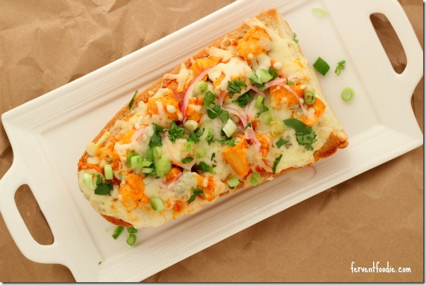 buffalo chicken french bread pizza 1