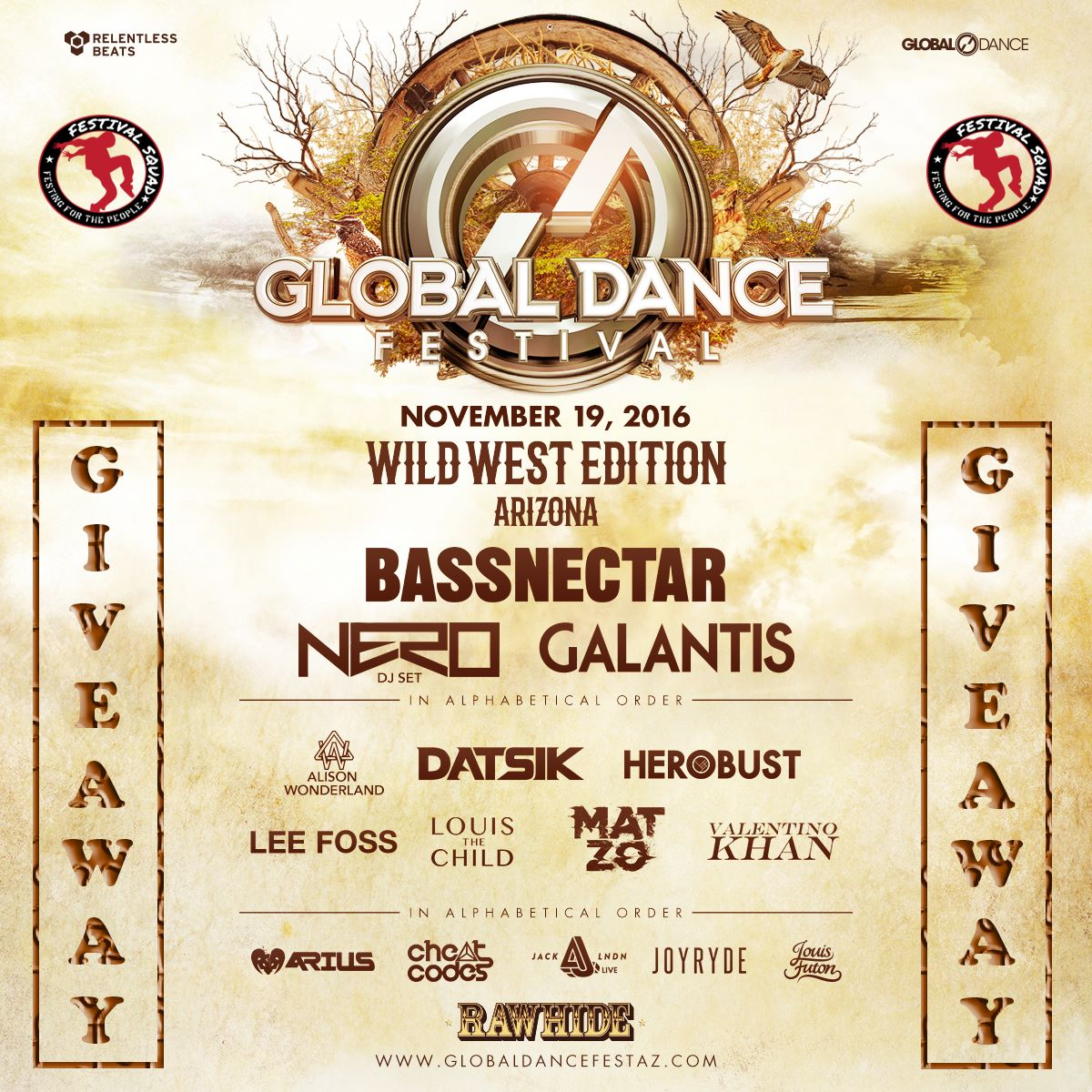 Win Tickets to Bassnectar, Nero, Louis The Child & more at Global Dance Festival AZ! [Click to Enter]