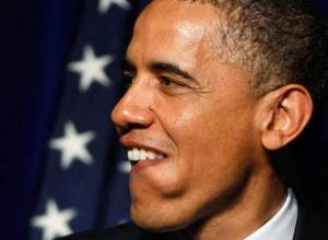 obama profile smile