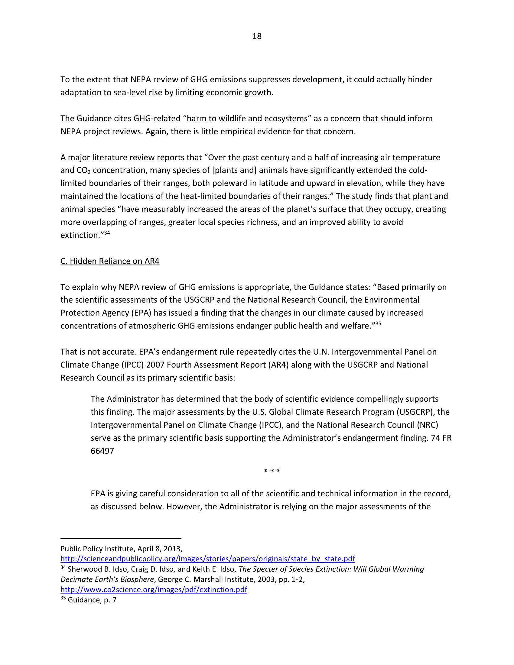 Marlo Lewis Competitive Enterprise Institute and Free Market Allies Comment Letter on NEPA GHG Guidance Document 90-18