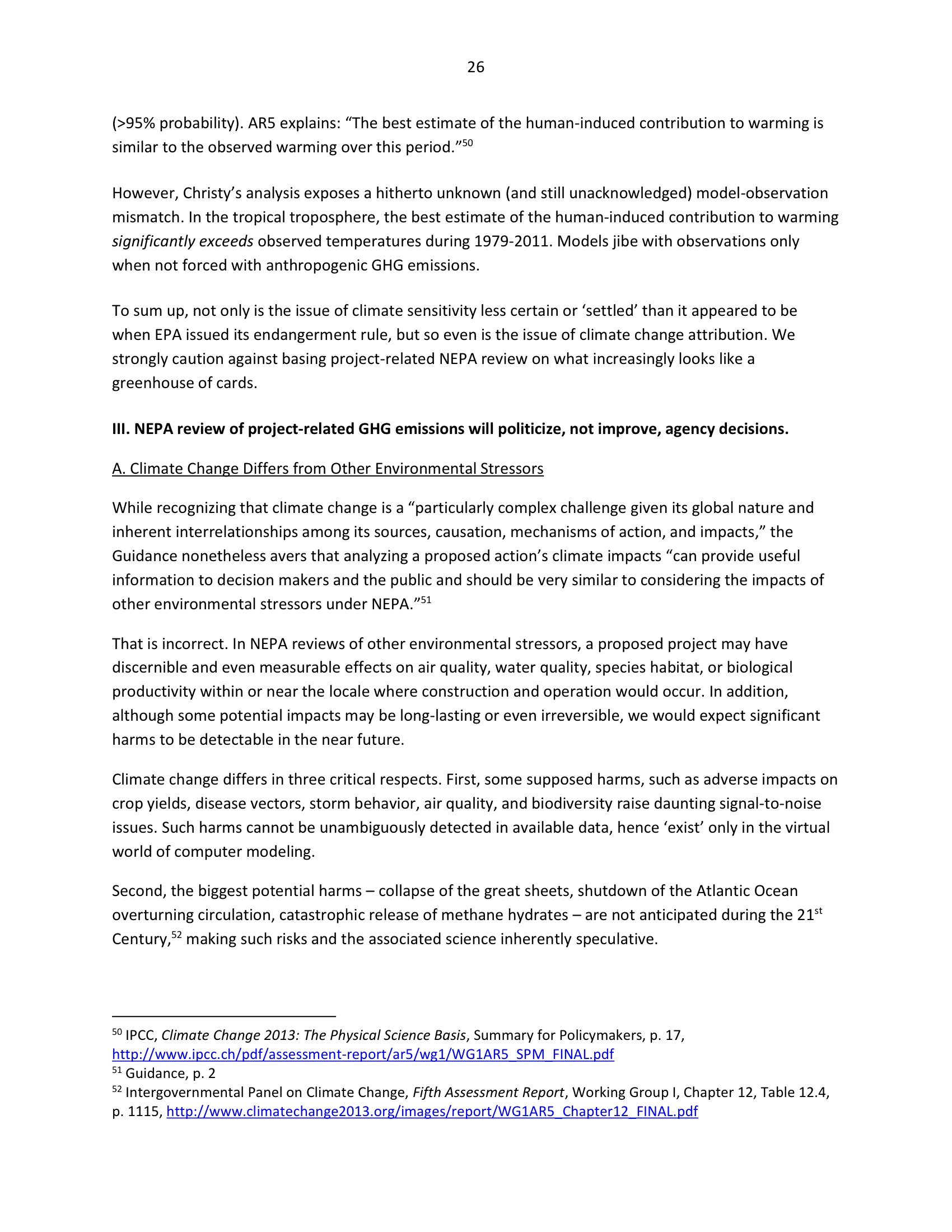 Marlo Lewis Competitive Enterprise Institute and Free Market Allies Comment Letter on NEPA GHG Guidance Document 98-26