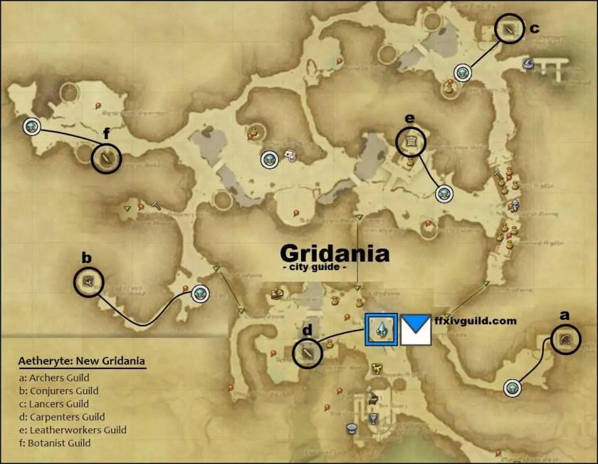 FFXIV A Realm Reborn ARR Gridania Map