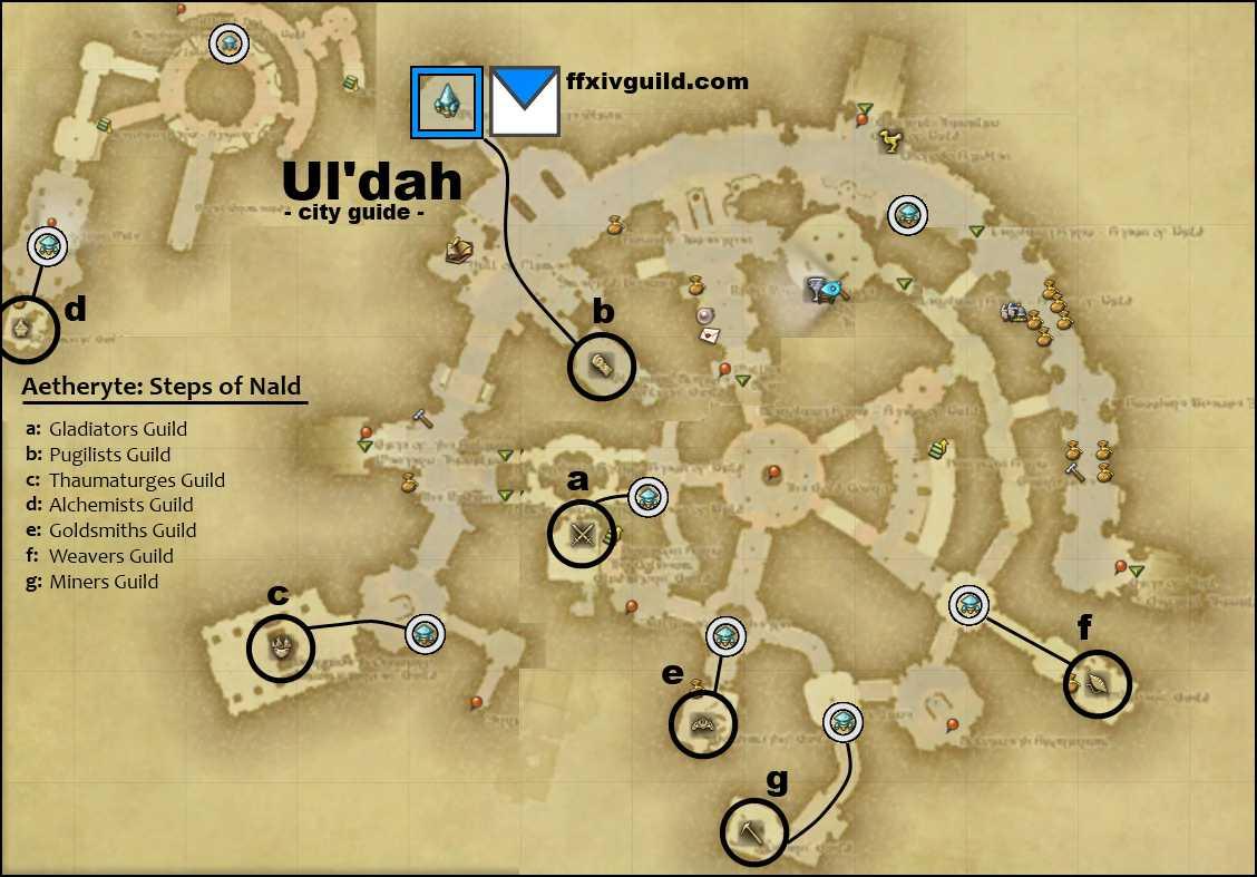 FFXIV A Realm Reborn ARR Uldah Map