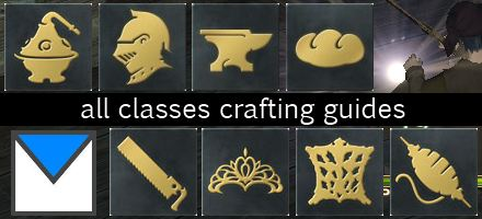 crafting guides for alchemist armorsmith blacksmith culinarian carpenter goldsmith leatherworker weaver