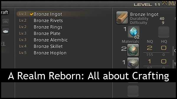 ffxiv arr reborn crafting guide