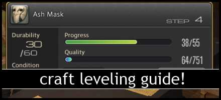 ffxiv arr reborn crafting leveling guide