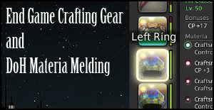 best in slot crafting gear and crafting materia ffxiv arr